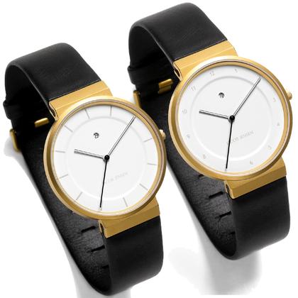 Jacob Jensen horlogeband 863, 883 zwart leder 19mm
