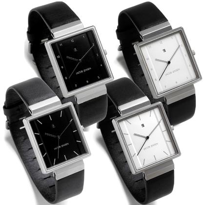 Jacob Jensen horlogeband 865, 866, 885, 886 zwart leer 19mm