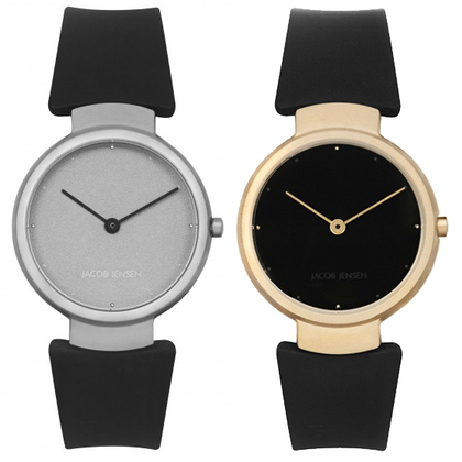 Jacob Jensen horlogeband 110, 111, 112, 113 zwart rubber