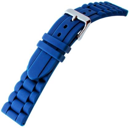 Hirsch Jelly Rubber Schakels Horlogebandje Blauw