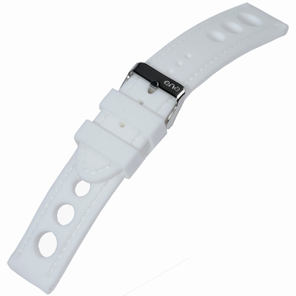 Rally Geperforeerd Silicone Horlogebandje Wit