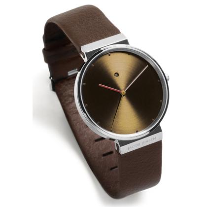 Jacob Jensen horlogeband 843 bruin leder 19mm