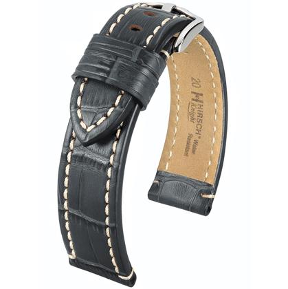 Hirsch Knight Horlogeband Kalfsleer Grijs