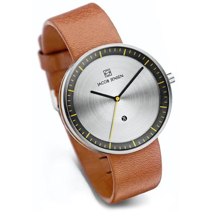 Jacob Jensen horlogeband Strata 271 Cognac Leer 20mm