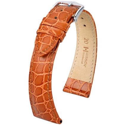 Hirsch Aristocrat Horlogebandje Crocograin Goudbruin