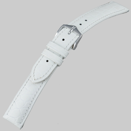 Hirsch Aristocrat Horlogebandje Crocograin Wit