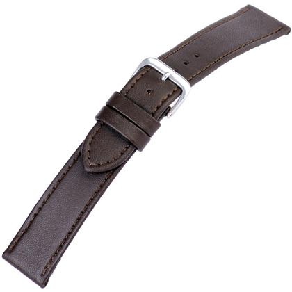 Bruin Horlogebandje Kalfsleer Plat