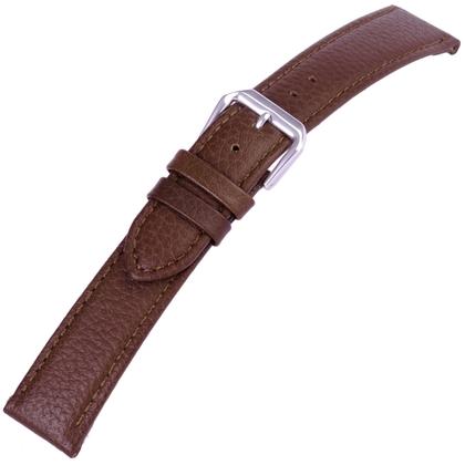 Bruin Horlogebandje Kalfsleer Buffelgrain