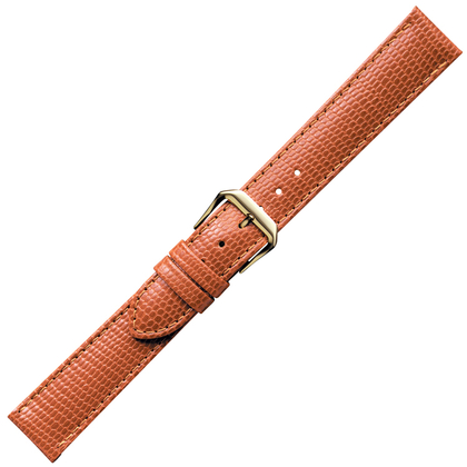 Lichtbruin Horlogebandje Hagedis-Kalfsleer
