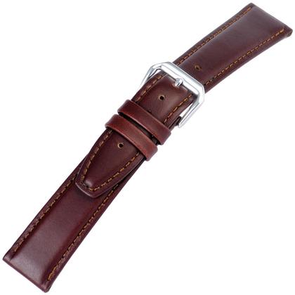 Bruin Horlogebandje Geolied Kalfsleer