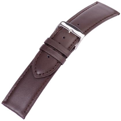 Bruin Horlogebandje Mat Kalfsleer