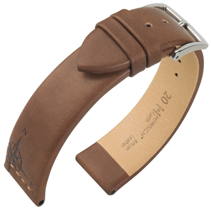 Hirsch Earth Artisan Windroos Horlogebandje Bruin