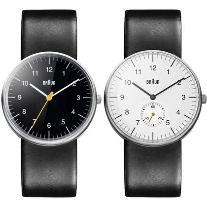 Braun Horlogeband voor BN0021BKBKG en BN0024WHBKG - Zwart Leer