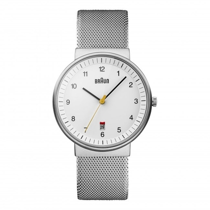 Braun Horlogeband voor BN0032WHSLMHG - Mesh Milanese