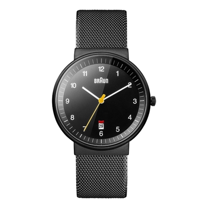 Braun Horlogeband voor BN0032BKBKMHG - Mesh Milanese Zwart