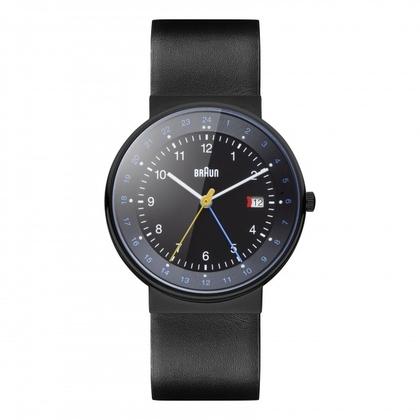 Braun Horlogeband voor BN0142BKBKG - Zwart Leer