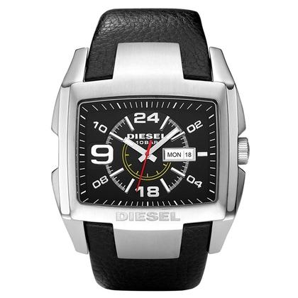 Diesel DZ1215 Horlogeband Zwart Leer