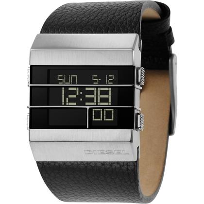 Diesel DZ7069 Horlogeband Zwart Leer