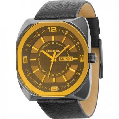 Diesel DZ1187 Horlogeband Zwart Leer