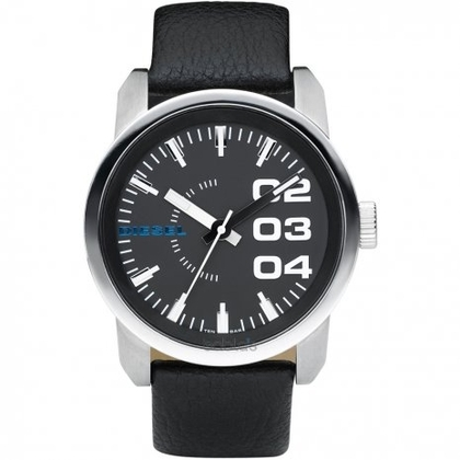 Diesel DZ1373 Horlogeband Zwart Leer