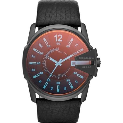 Diesel DZ1657 Horlogeband Zwart Leer