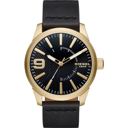 Diesel DZ1801 Horlogeband Zwart Leer