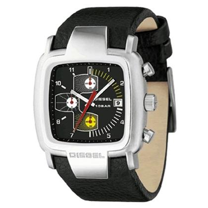 Diesel DZ4028 Horlogeband Zwart Leer