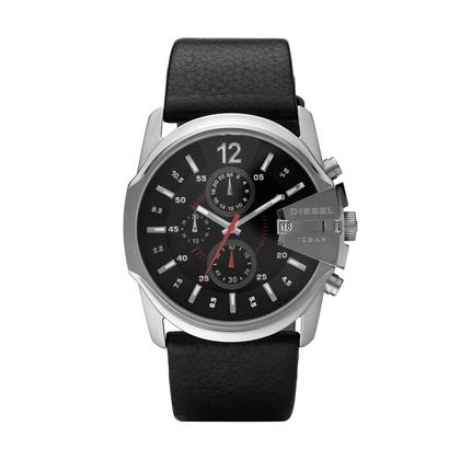 Diesel DZ4182 Horlogeband Zwart Leer