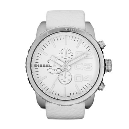 Diesel DZ4240 Horlogeband Wit Leer