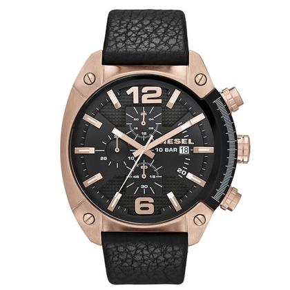 Diesel DZ4297 Horlogeband Zwart Leer
