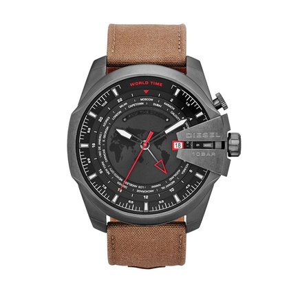Diesel DZ4306 Horlogeband Bruin Leer