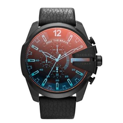 Diesel DZ4323 Horlogeband Zwart Leer