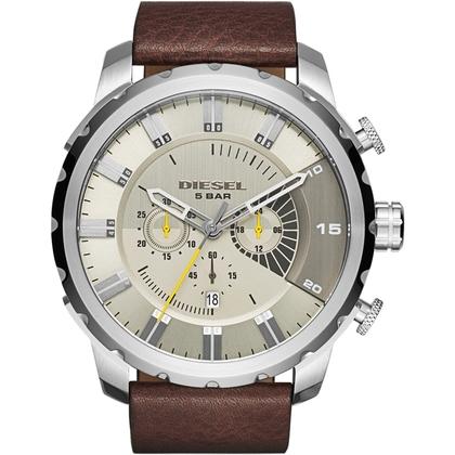 Diesel DZ4346 Horlogeband Bruin Leer