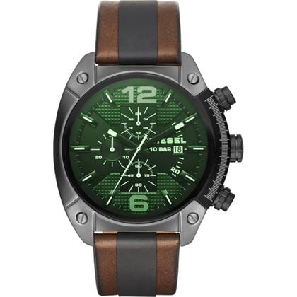 Diesel DZ4414 Horlogeband Bruin Zwart Leer