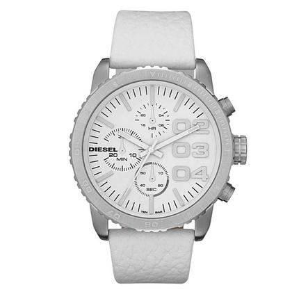 Diesel DZ5330 Horlogeband Wit Leer