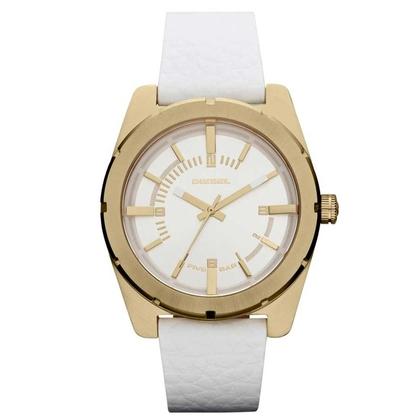 Diesel DZ5356 Horlogeband Wit Leer
