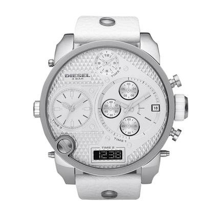 Diesel DZ7194 Horlogeband Wit Leer
