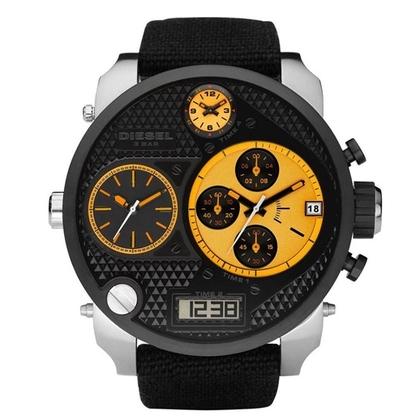 Diesel DZ7234 Horlogeband Zwart Leer