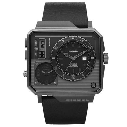 Diesel DZ7241 Horlogeband Zwart Leer