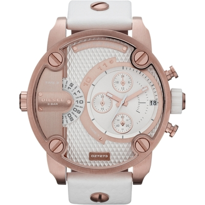 Diesel DZ7271 Horlogeband Wit Leer