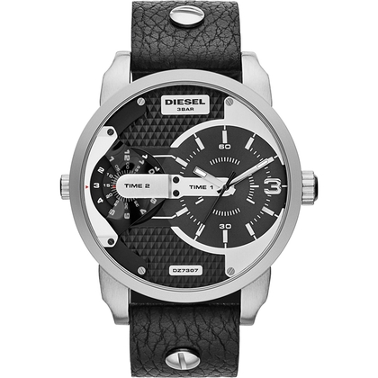 Diesel DZ7307 Horlogeband Zwart Leer