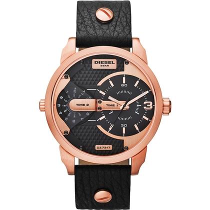 Diesel DZ7317 Horlogeband Zwart Leer