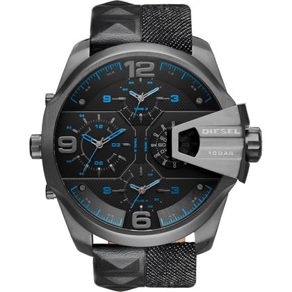 Diesel DZ7393 Horlogeband Zwart Denim Leer