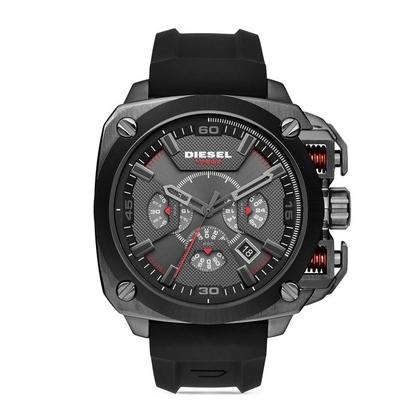 Diesel DZ7356 Horlogeband Zwart Rubber