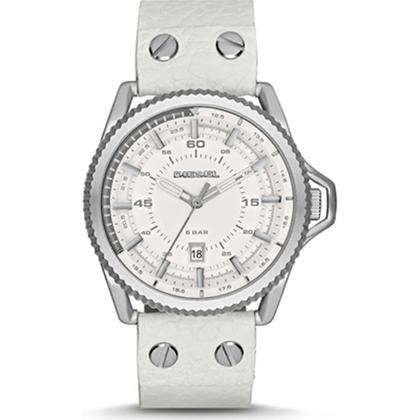 Diesel DZ1755 Horlogeband Wit Leer