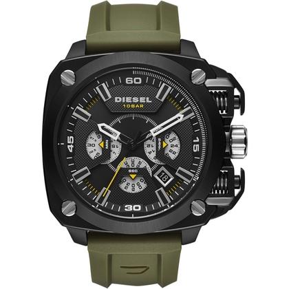 Diesel DZ7369 Horlogeband Groen Rubber