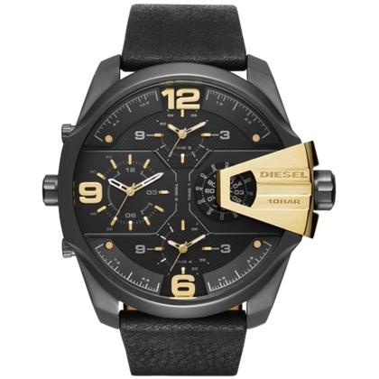 Diesel DZ7377 Horlogeband Zwart Leer