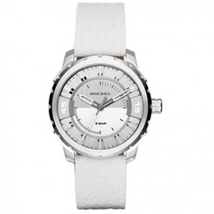 Diesel DZ1731 Horlogeband Wit Leer