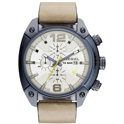 Diesel DZ4356 Horlogeband Beige Leer