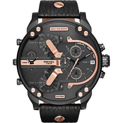 Diesel DZ7350 Horlogeband Zwart Leer